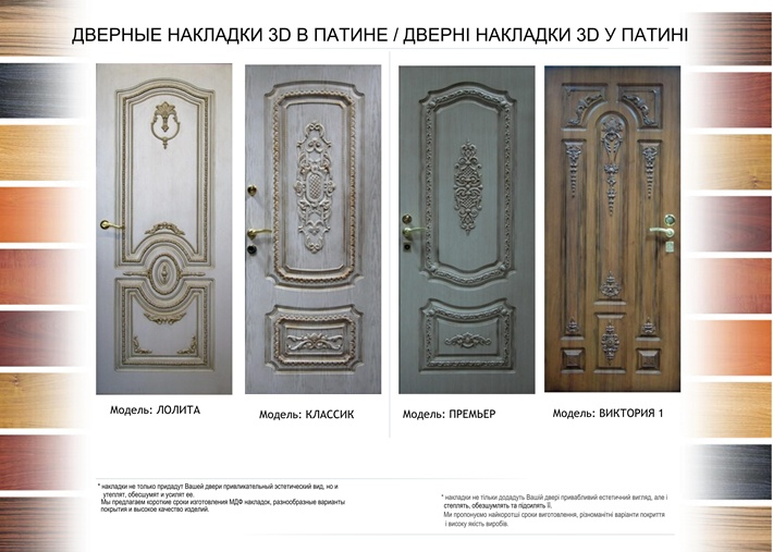 стальные двери накладки